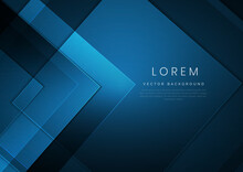 Abstract Modern Square Blue Geometric Background With Space For Your Text. Technology Concept.