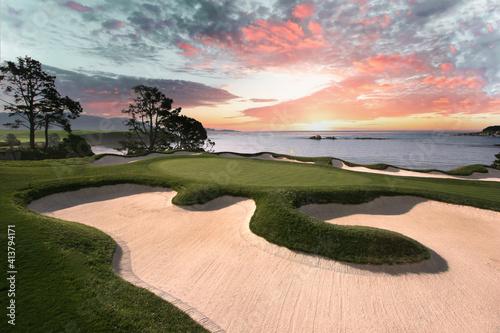 Fototapeta Pebble Beach golf course, Monterey, California, USA obraz