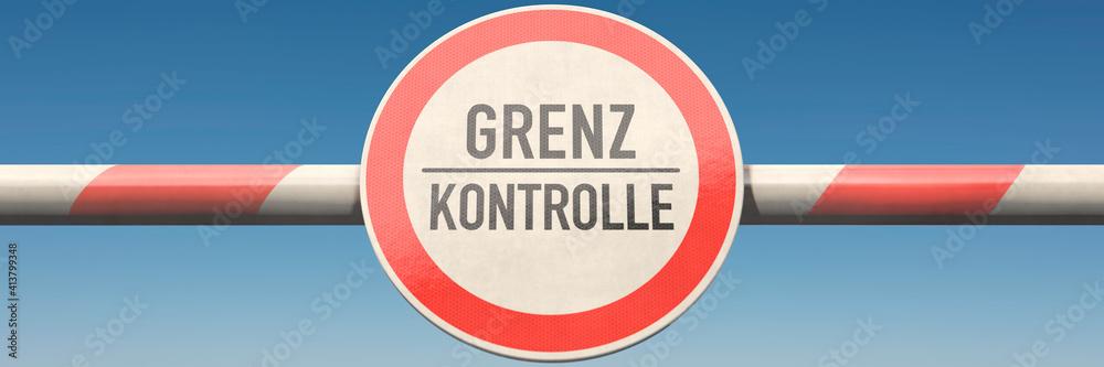 Fototapeta Grenzkontrolle