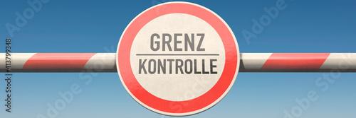 Fototapeta Grenzkontrolle obraz