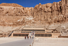 Tourists At Temple Of Hatshepsut