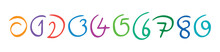 Hand Drawn Different Form 0-9 Numbers. 0-9 Numbers