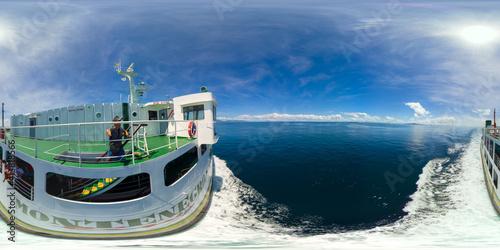 Fototapeta Passenger ferry in the blue sea