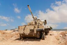 Abandoned Tank In The Judaea Desert.Israel.