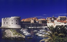 The Old Port And St John Fort,  Dubrovnik Old City, Croatia