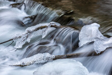 Cascades In River Raab In Winter, Austria