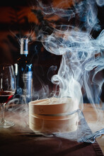 A Mysterious Dish Steaming From A Restaurant Chef