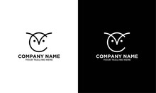 Minimal Letter C With Owl Logo Design