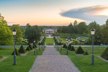 Linneanum  Museum With Its Botanical Garden By Sunset Empty