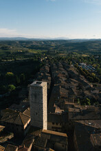 A View Of San Gimignano From One Of Its Historic Towers