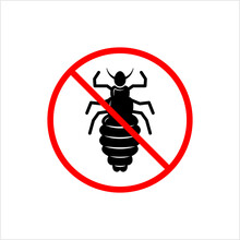 No Louse Icon, Lice Free Icon, Anti Lice, Wingless Insect, Obligate Parasite