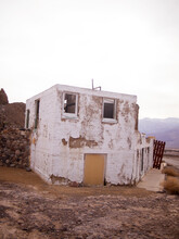 An Abandoned Building In Death Valley.