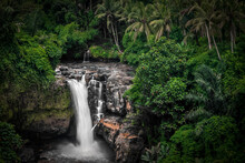 Tegenungan Waterfall In Bali Indonesia Famous Travel Destination Long Exposure
