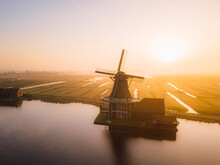 Holland Windmill In The Morning