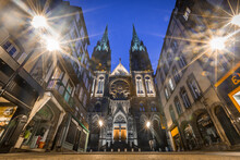 Clermot-Ferrand Cathedral In The Night