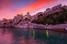 Vaporia District Of Ermoupoli Town On Syros Island.