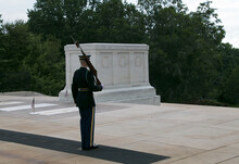 Honor Guard At The Tomb Of The Unknown Soldier.