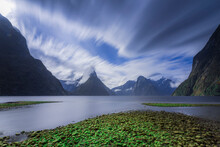 Incredible Lake In Mountains In New Zealand