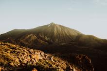 Mount Teide Seen From Peak Of Guajara At Sunrise