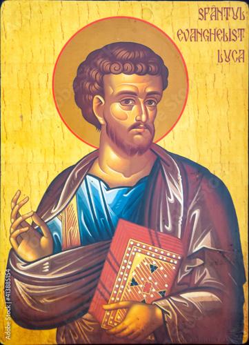 Fotografie, Obraz an icon of the saint evangelist Luke