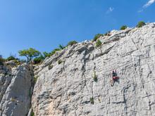 Rock Climbing Drone View, Gorges Du Verdon, France