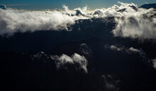 Clouds Dancing Over Kauai Ridge Tops, Na'Pali Region
