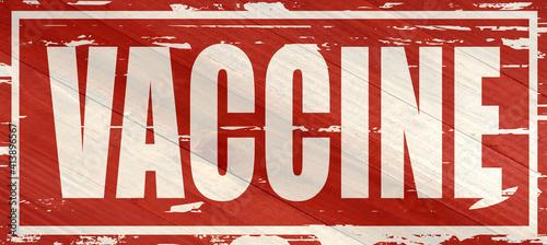 Vaccine sign on wood grain texture #413896567