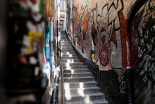 Famous Graffiti Alley In Gamla Stan, Stockholm, Sweden