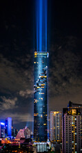 View Of Illuminated Tower Mahanakhon In Bangkok
