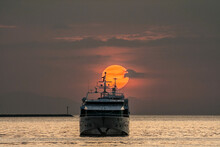 Famous Spectacular Summer  Sunset In Manila Bay,Philippines.
