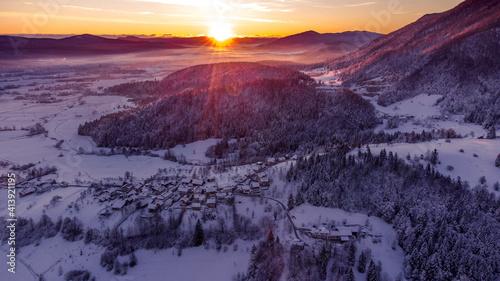 sunrise over the mountains © Daniel Vincek