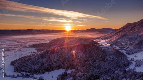sunrise over the hills © Daniel Vincek