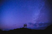 Starry Milky Way On Oahu, Hawaii
