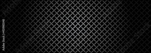 Valokuva Metal grid microphone texture.