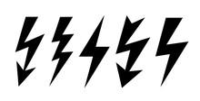 Lightning Icon, Bolt Vector Sign