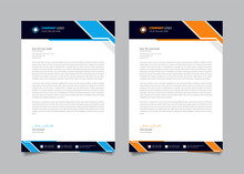 Modern Corporate Business Letterhead Design Template