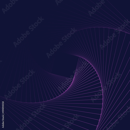 Fotografia rotation square abstract geometric background, vector equilibrium