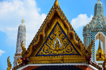 The View Of The Grand Palace In Bangkok In Thailand Showing The Temple And Its Surroundings