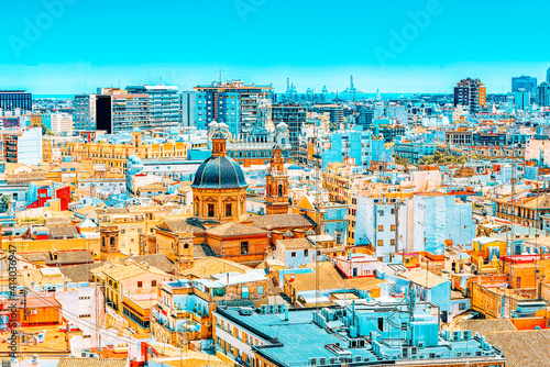 Tela Panoramic view  of Valencia, is the capital of the autonomous co