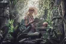 Funny Tourist Lost In The Jungle