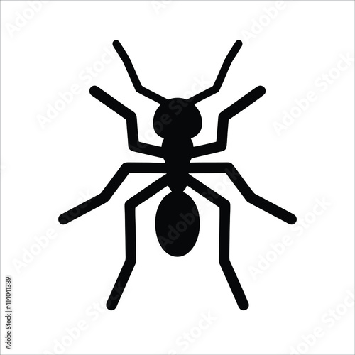 Canvas Print ant icon isolated on white background from wildlife collection