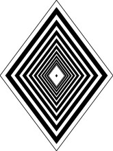 Black White Diamond Shape