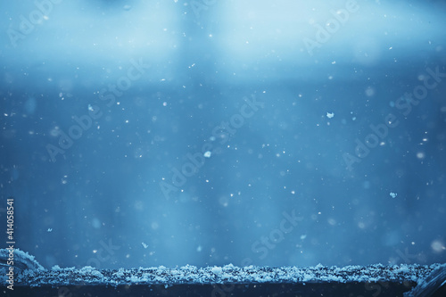 blurred background snowfall nature, abstract falling snowflakes design Fototapet