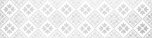 Seamless Grunge Worn Vintage Old Gray Grey White Concrete Stone Cement Tiles With Leaves Flowers Rhombus Diamond Square Mosaic Texture Background Banner Panorama
