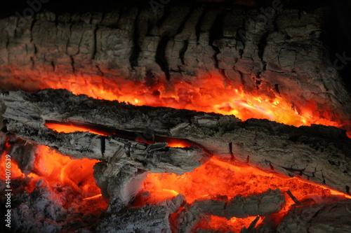 Photo Les bûches en feu / The fire woods