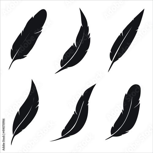 Fotografia feather icon isolated on white background