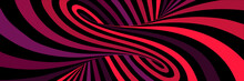 Colorful Red Abstract Vector Lines Psychedelic Optical Illusion Illustration