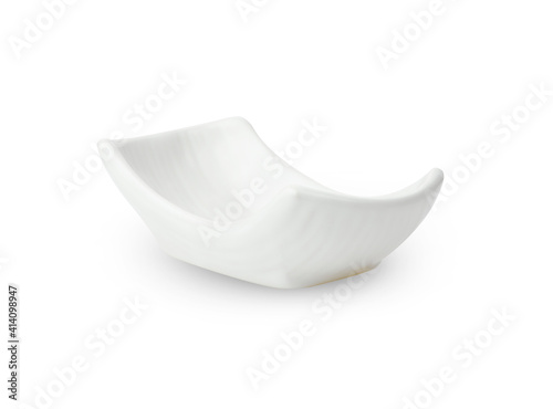 white bowl ceramic  isolated on white background Fototapet