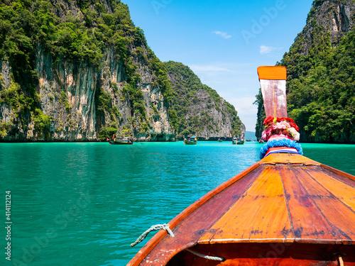 Obraz na plátne Pileh Bay, Phi Phi Islands, Krabi, Thailand