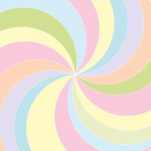 Multicolored Pastel Swirl Background.  Wrap Swirl Stripes For Montage, Advertising Your Business, Project Or Product, Illustration, Wallpaper, Template.